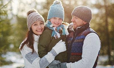 Ferienpark im Winter